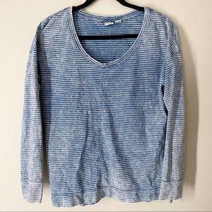 Lucy & Laurel | Stripe Faded Long Sleeve Shirt